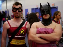 Robin and Batman in Robes – Montreal Comic Con 2014 – Photo by Geeks are Sexy