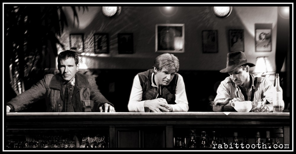 A bounty hunter a smuggler and an archaeologist walk into a bar Pic