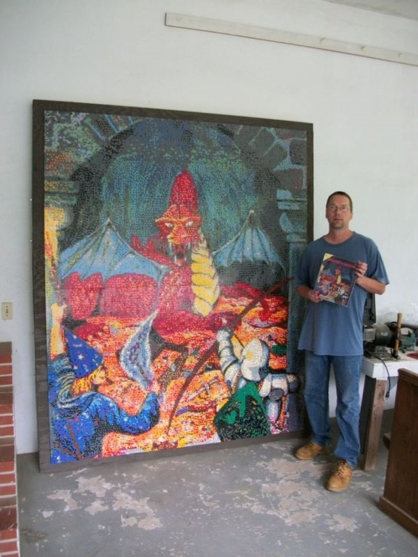 Geek Recreates Original Dungeons & Dragons Cover Art with 50,000 LEGO Bricks