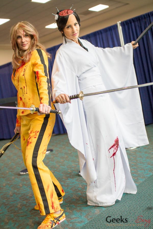 The Bride and O-Ren Ishii (Kill Bill) - San Diego Comic-Con 2015 - Photo by Geeks are Sexy