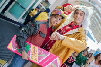 Back to the Future Cosplayers #2 - San Diego Comic-Con 2015 - Photo by Geeks are Sexy
