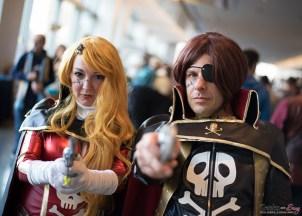 Queen Emeraldas and Captain Harlock - Quebec City Comic Con 2015 - Photo by Geeks are Sexy