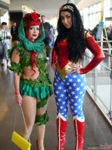 Poison Ivy and Wonder Woman - Quebec City Comic Con 2015 - Photo by Geeks are Sexy