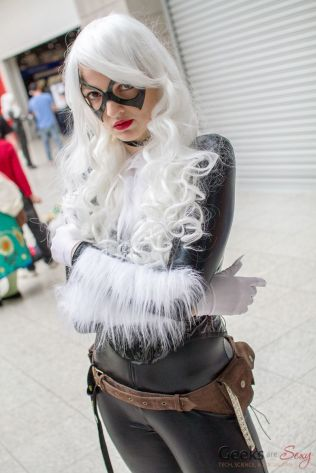 AlienQueen as Black Cat - London Super Comic Con 2016 - Photo by Geeks are Sexy