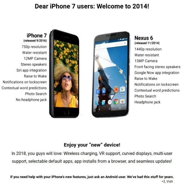 IPHONE 7 MIT ANDROID