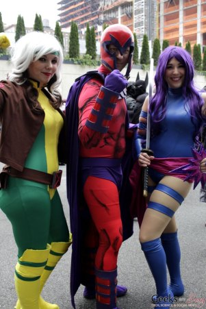 Rogue, Magneto and Psylocke- New York Comic Con 2016 - Photo by Geeks are Sexy