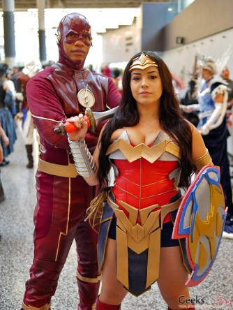 Flash and Wonder Woman - Montreal Comiccon 2017 - Photo by Geeks are Sexy
