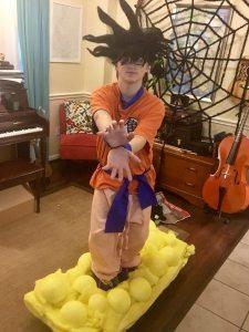 Ben's son as Goku