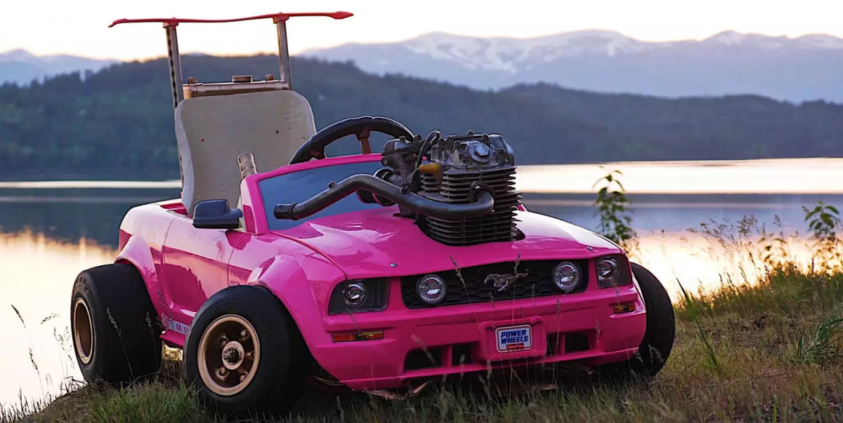 This Modded Barbie Ride-On Toy Car Can Go Up to 70MPH 112KPH