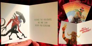 Geektastic Christmas Cards and Ornaments From Your Favorite Pop Culture Franchises! (Star Wars, Aliens, GOT, Etc.)