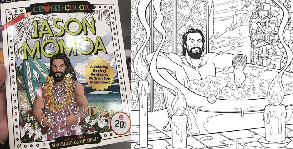 This Jason Momoa Fantasy Crush Coloring Book Is Actually A Thing
