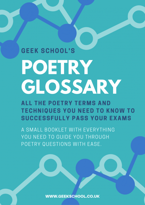 Poetry Glossary and Poetic Techniques for Key Stage 2, 3 and GCSE English Language and English Literature Exams
