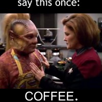 Captain Janeway Coffee Clips