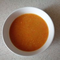 Carrot and Coriander Soup with Red Lentils