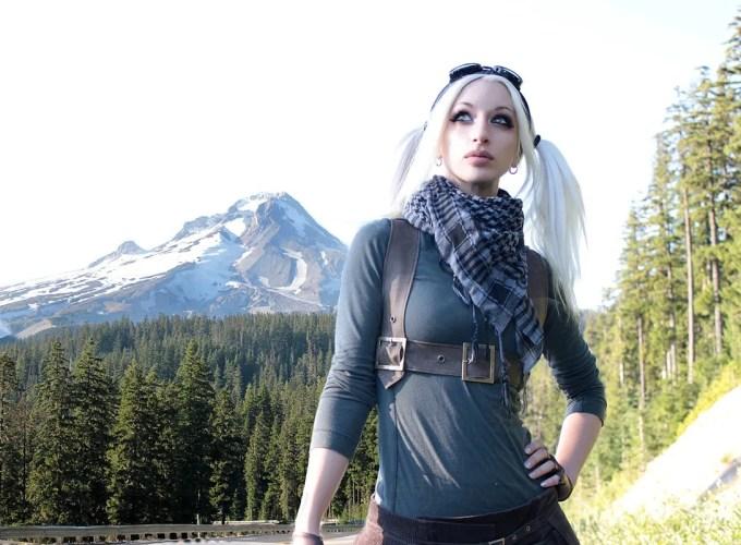 Kato (Kate Lambert) poses outside