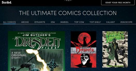 Scribd subscription service adds comics
