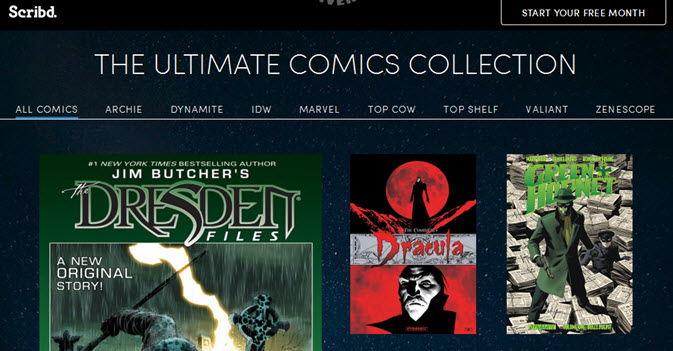 Scribd subscription service adds comics