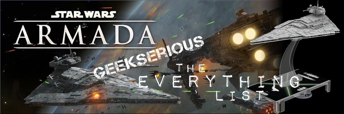 Star Wars Armada - The Everything List