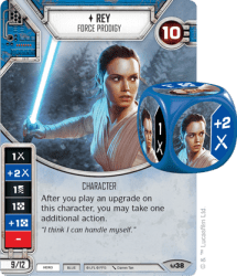 Rey Character Card from Star Wars Destiny