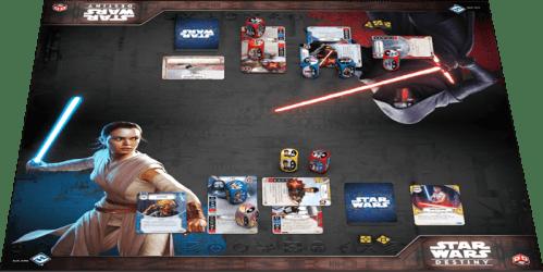 Star Wars Destiny Awakenings Playmat During Play