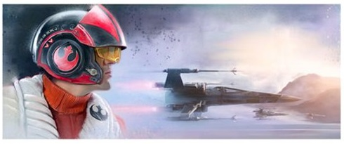 The Pilot, a Star Wars Episode VII The Force Awakens Giclee Print Wall Art by Brian Rood