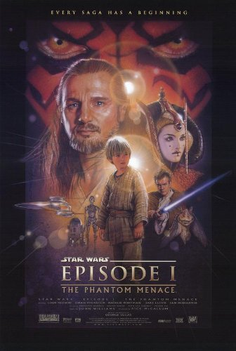 Star Wars Movie Poster from Episode I: The Phantom Menace