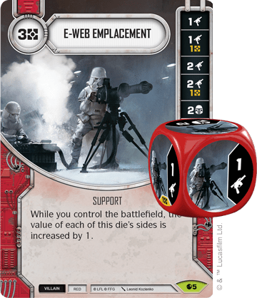 Star Wars Destiny Spirit of Rebellion E-Web Emplacement