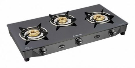 Sunflame GT Pride Glass Top Gas Stove, 3 Burner Gas Stove