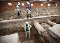 Standing in the area of King Richard III remains