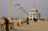 The Burning Man pier in the middle of the desert