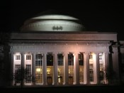 Batman emergency signal on Great Dome at MIT