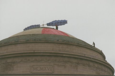 Great Dome outfitted with propeller to resemble a Beanie Hat