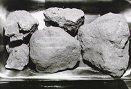Collection of moon rocks