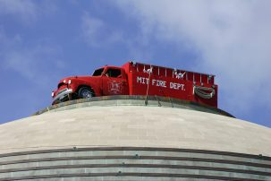 Firetruck on top of the Great Dome