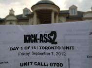 Kick-Ass 2:Balls to the Wall production sign