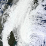 Hurricane Sandy satellite photo