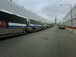 Buses staged to assist with Hurricane Sandy evacuations