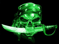 CyberSecurity Army Pirate with Sword