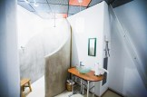 Shower and bathroom inside the abandoned nuclear missile silo
