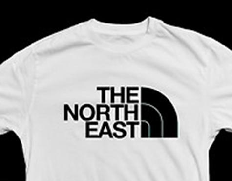 The North East (North Face parody logo)