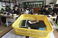 South Korean schools collect smartphones before class