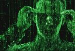Matrix ghost hacker man