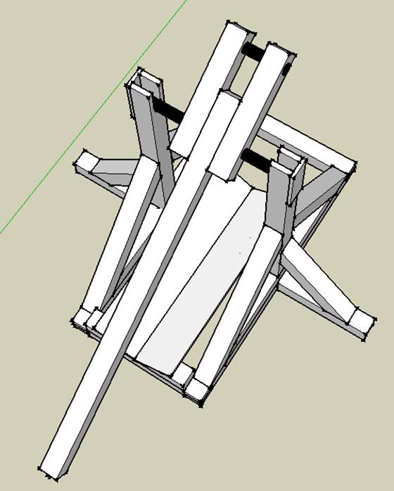 Tebuchet (Catapult) - top view