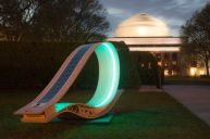 Soft Rocker solar-powered lounge chair on MIT campus