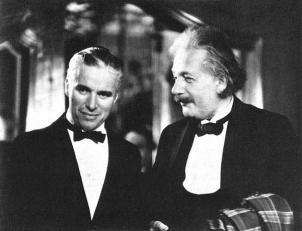 Charlie Chaplin and Albert Einstein