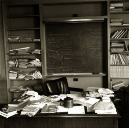 Einstein's office on the day that he died