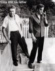 Elvis Presley and his father
