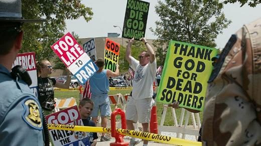 Westboro Baptist Church protestors