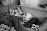 James Dean and Elizabeth Taylor at home in Dallas during filming of Giant, 1955