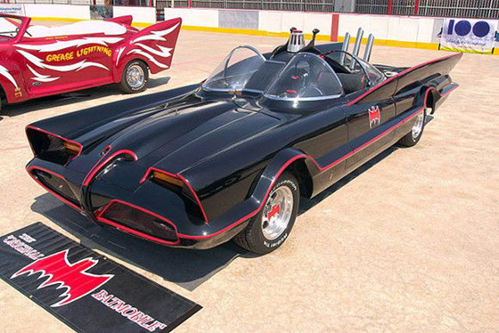 Original Batmobile car from the Batman television series